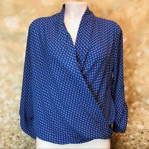 Women Pleione wrap blouse, sz XS
